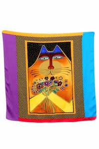 A Bunch Of Love Square Scarf by Laurel Burch