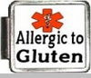 Allergic To Gluten Medical Alert Photo Italian Charm