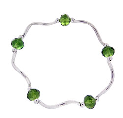Prism Pals Peridot Color Crystal Stretch Bracelet, August Birthstone