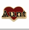 Aunt Red Heart Floating Locket Charm