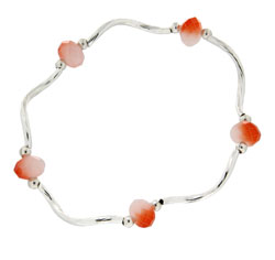 Prism Pals Bagel & Lox Color Crystal Stretch Bracelet