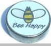 Bee Happy Floating Heart Locket Charm