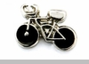 Bicycle Floating Locket Charm