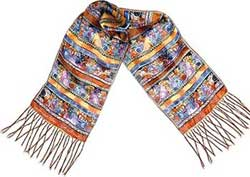 Cannines & Felines Silk Scarf by Laurel Burch