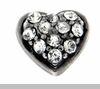 Crystal Heart Floating Locket Charm