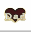 Dad Red Heart Floating Locket Charm