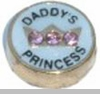 Daddy's Princess Floating Heart Locket Charm