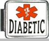 Diabetic Medical Alert Photo Italian Charm