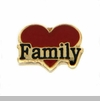 Family Red Heart Floating Locket Charm