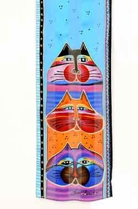 Fat Cats Scarf by Laurel Burch