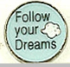 Follow Your Dreams Floating Heart Locket Charm