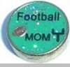 Football Mom Floating Heart Locket Charm