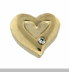 Gold Heart with Crystal Floating Locket Charm