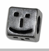 Happy Face & Straight Face Emoticon European Bead Charm