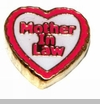 Heart Mother in Law Floating Locket Charm