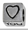 Heart You Cube European Bead Charm