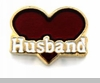 Husband Red Heart Floating Locket Charm