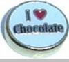 I Heart Chocolate Heart Locket Charm