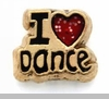 I Heart Dance Floating Locket Charm