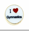 I Heart Gymnastics Floating Locket Charm
