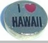 I Heart Hawaii Floating Heart Locket Charm