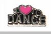 I Heart to Dance Floating Locket Charm