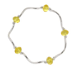 Prism Pals Lemonade Color Crystal Stretch Bracelet