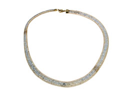 Lily Helena Glistening Ice Crystal Mesh Flat Bracelet, Goldtone, Clear