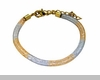 Lily Helena Glistening Ice Crystal Mesh Small Round Bracelet, Silvertone, Goldtone, Clear