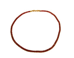 Lily Helena Glistening Ice Crystal Mesh Small Round Necklace, Goldtone, Red