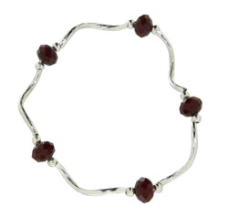 Prism Pals Maroon Opaque Color Crystal Stretch Bracelet