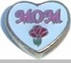 Mom with Rose in Heart Heart Locket Charm