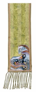 Mythical Horses Scarf by Laurel Burch