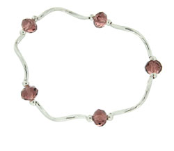 Prism Pals Plum Color Crystal Stretch Bracelet