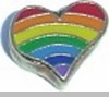 Rainbow Heart Heart Locket Charm