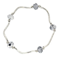 Prism Pals Silver Crystal Color Crystal Stretch Bracelet