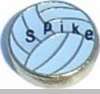 Spike Volleyball Floating Heart Locket Charm