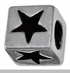 Star on Cube European Bead Charm
