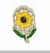 Sunflower with Stem Floating Locket Charm