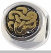 Two-toned Celtic Knot European Bead Charm