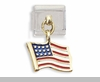 US Flag Dangle Italian Charm