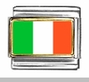 World Flag Photo Italian Charms D - K