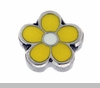 Yellow Flower Floating Locket Charm