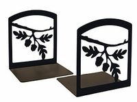 Acorn Leaf Iron Bookends