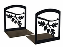 Cabin Acorn Leaf Iron Bookends