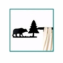 Cabin Bear Short Curtain Rod