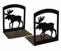 Cabin Moose Iron Bookends