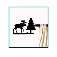 Cabin Moose Short Curtain Rod