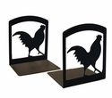 Kitchen Rooster Cookbook Bookends