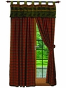McWoods Cabin Red Plaid Curtains Set